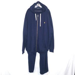 Polo Ralph Lauren like new hooded sweat suit 4XL